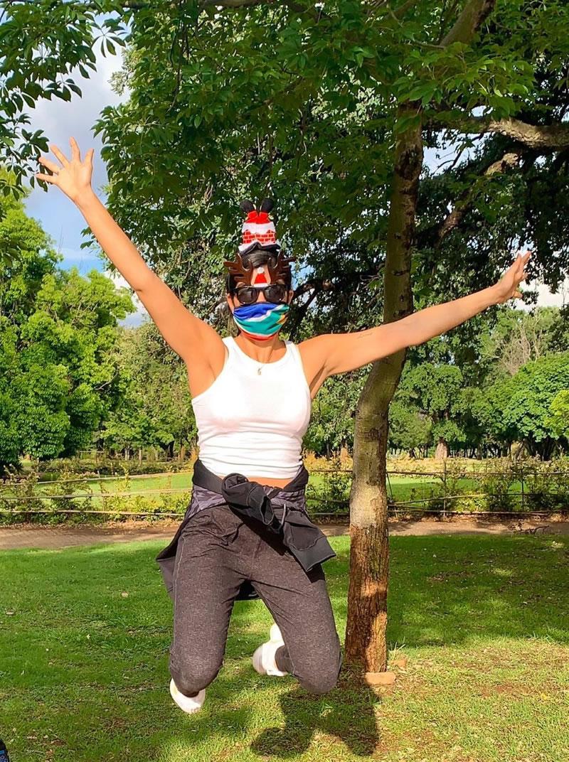 Santa Fun Run in South Africa - for Princess Alice Hospice Esher Elmbridge