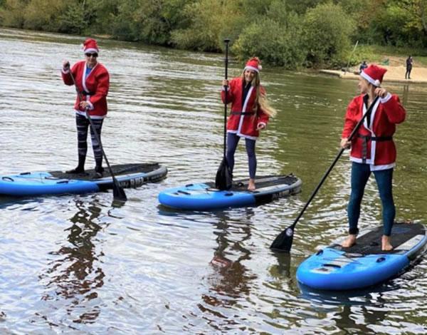 Virtual Santa Fun Run - Paddling - Princess Alice Hospice Esher Surrey