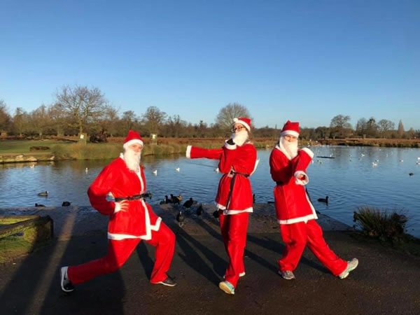 Walk Jog or Run - Santa Fun Run for Princess Alice Hospice Esher Elmbridge