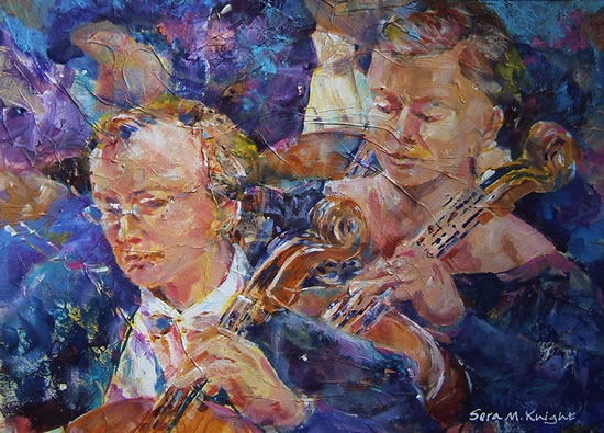 Classical Music - Art by Woking Surrey Artist Sera Knight