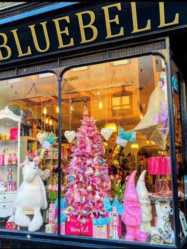 Bluebell 33 Gift Shop Baker Street Weybridge - Christmas Window