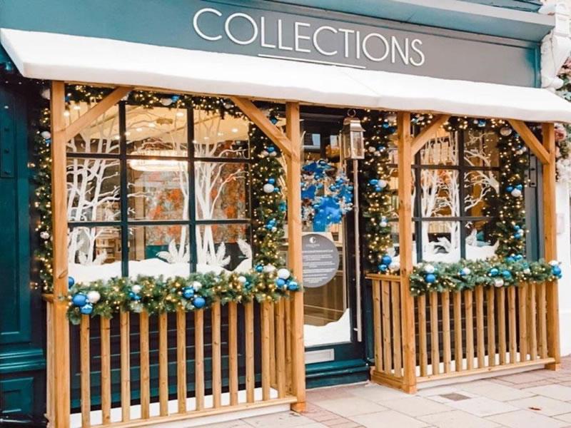 Collections Hair Club Queens Road Weybridge Salon- Christmas Window Decorations