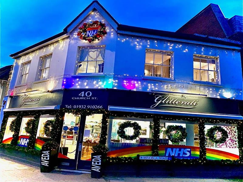 Glitterati Hair & Beauty Salon Church Street Weybridge - Christmas Decorations