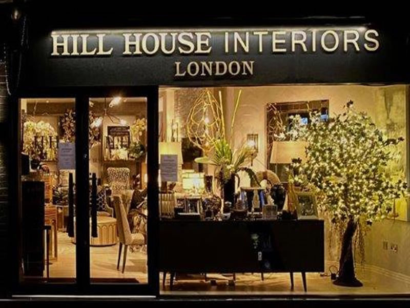 Hill House Interiors Weybridge Christmas Window Decorations 2020