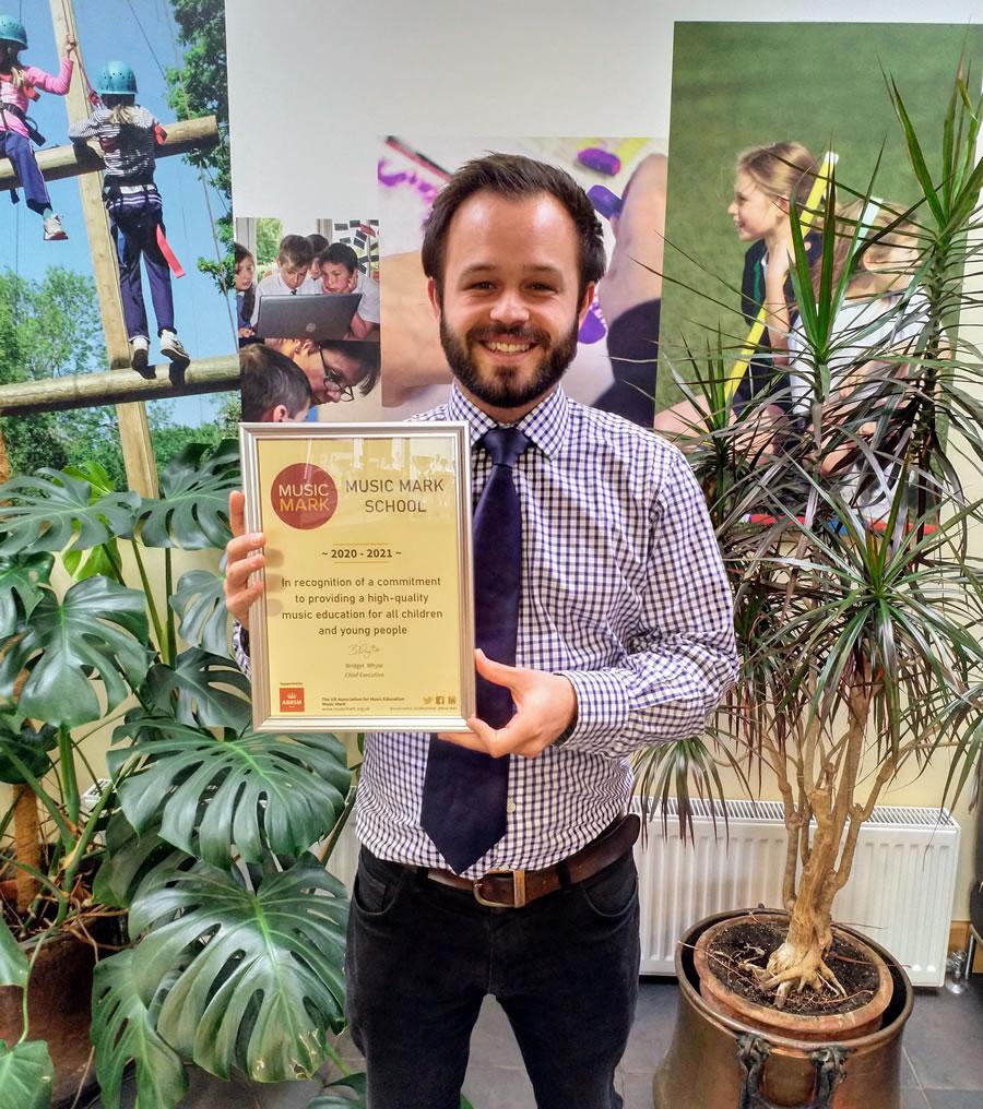 Johnny Kilhams - Cleves School Weybridge Music Achievements Award