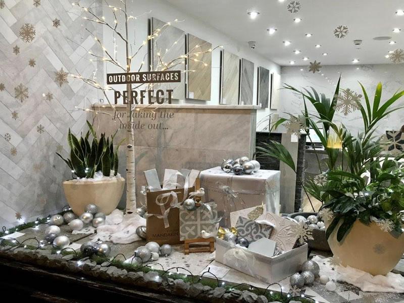 Mandarin Stone Tiles and Flooring Weybridge - Christmas Window Decorations