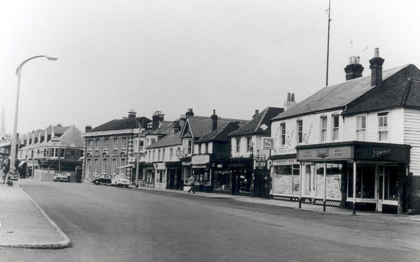 Rogers & Sons Ltd store front in Weybridge High Street