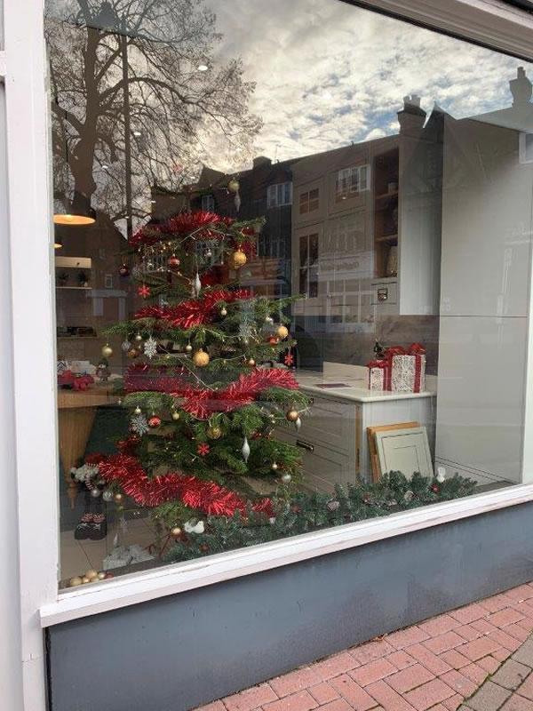 Wooden Heart Kitchens - Church Street Weybridge Store Christmas Window Competition