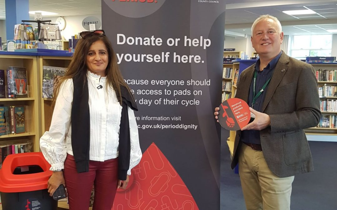 Surrey becomes first County in England to support Weybridge based Binti's Dignity At Work Initiative, to provide Free Period Products