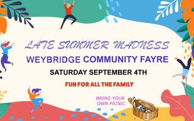 Weybridge Community Fayre – 'Late Summer Madness'