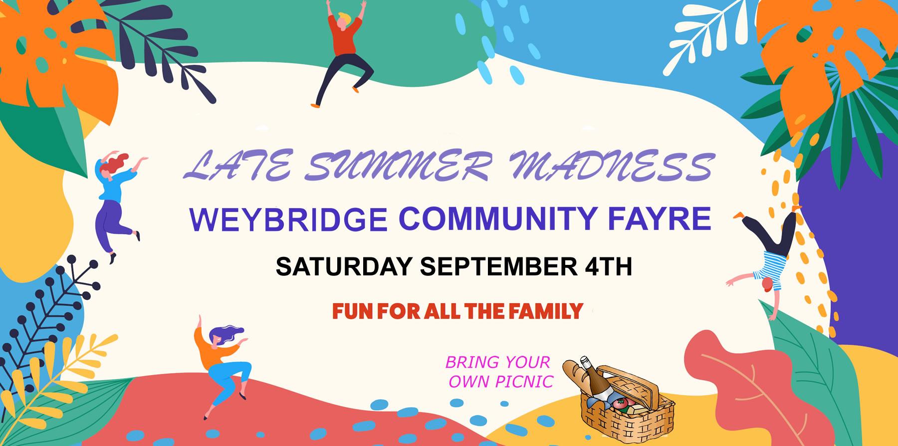 Weybridge Community Fayre - September 2021 - Family fun organised by Weybridge Society