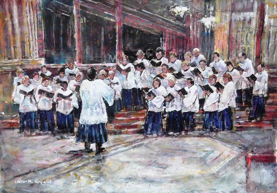Church Choir Singing Evensong - Surrey Art Gallery