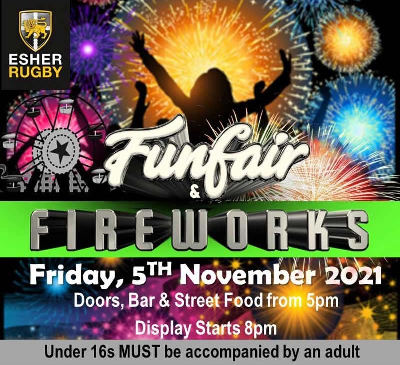 Esher Rugby Club Funfair and Fireworks Display