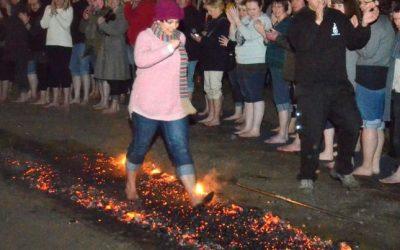 Firewalk In Aid of Princess Alice Hospice and Esher Rugby Club Funfair & Fireworks Display